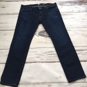 7 for all Mankind Slimmy Men's Denim Blue Jeans 38